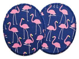 2 Knieflicken Flamingos