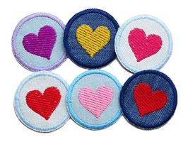 Jeansflicken Herz mini Set