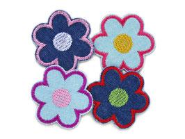 Blumen Jeansflicken