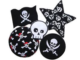 Set 5 Piraten Hosenflicken schwarz