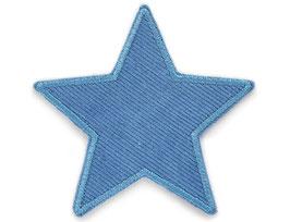 Stern Cord jeansblau Aufnäher