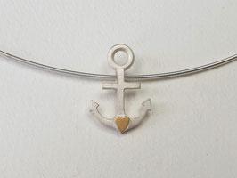 """Anhänger """"Glaube-Liebe-Hoffnung"""" aus 925er Silber und Gold"""