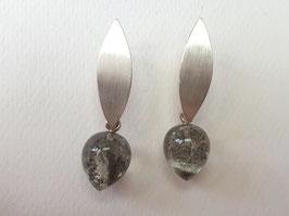 Dendritenquarz Ohrhänger aus 925er Silber