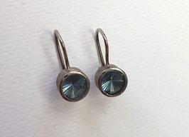 Ohrhänger aus Palladium mit blaue Turmaline