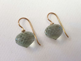 Prasiolith-Ohrhänger aus 750er Gold