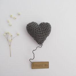 Boîte Surprise Coeur Gris Anthracite