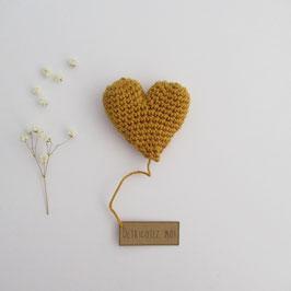 Boîte Surprise Coeur Moutarde