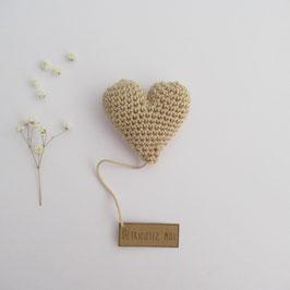 Boîte Surprise Coeur Beige