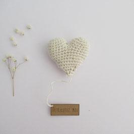 Boîte Surprise Coeur Ecru