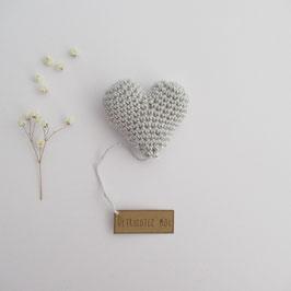 Boîte Surprise Coeur Gris Perle