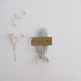 Boîte Surprise Poisson Gris Perle