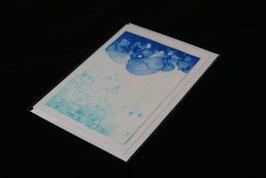 Karte blue bubbles nr. 9