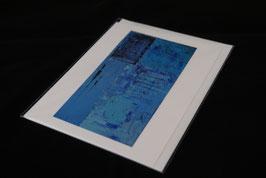 Karte blue variation nr. 4