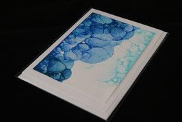Karte blue bubbles nr. 3