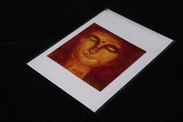 Karte red buddha klein