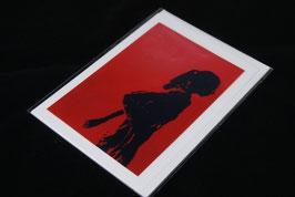 Karte red girl
