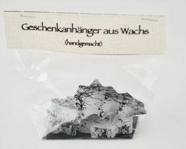 geschenkanhänger aus wachs (tannenbaum)