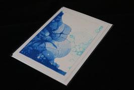 Karte blue bubbles nr. 6