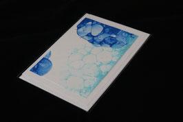 Karte blue bubbles nr. 8