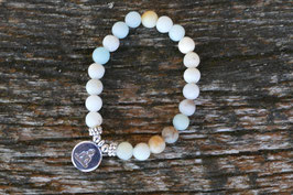 Armband Amazonit  - Budhha -