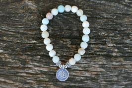 Armband Amazonit  - Lotus -