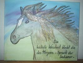 """Leinwandbild """"Pferd im Wind"""""""
