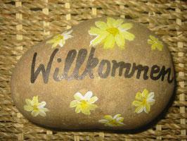 """Stein """"Willkommen"""""""