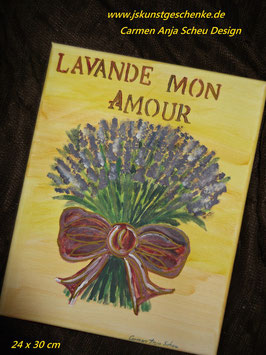 """Leinwandbild """"LAVANDE MON AMOUR"""""""