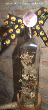 "Dekoflasche/Vase ""Herbstzeitzauber"""