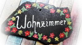 """Türschild """"Wohnzimmer"""" in Landhausstil"""