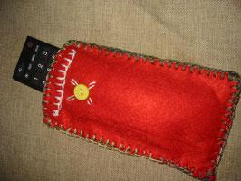 Rotes Filz-Etui