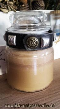 Handgegossene Duftkerze im Glas & Armband