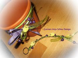 Blumentopf & passender Schlüsselanhänger für Eulenfans