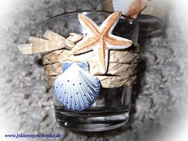 """Teelichtglas """"Ein Tag am Meer"""""""