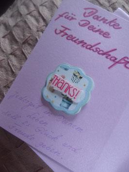 """Klappkarte mit Umschlag """"Danke für Deine Freundschaft"""""""