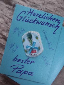 """Klappkarte mit Umschlag """"Herzlichen Glückwunsch bester Papa"""""""