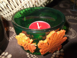 """Teelichtglas incl. Teelicht """"Herbstwald"""""""