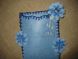 "Filz-Etui "" Blue Flowers"""