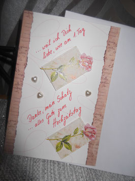 """Klappkarte mit Umschlag """"Hochzeitstag"""""""
