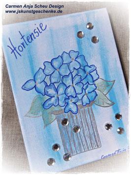 """Leinwandbild """"Hortensie"""" blau"""