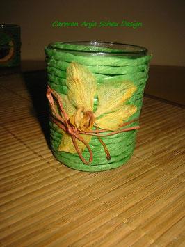 "Teelichtglas ""Orchideenblüte"""
