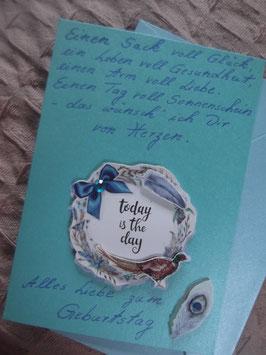 """Klappkarte mit Umschlag """"Alles Liebe zum Geburtstag"""""""
