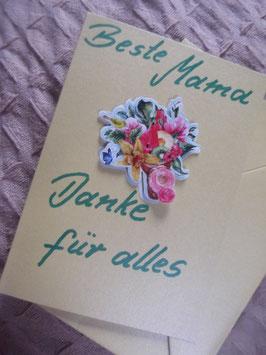 """Klappkarte mit Umschlag """"Beste Mama - Danke für alles"""""""""""