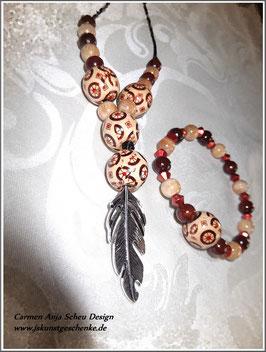"Kette und Armband ""Indian Lady"""