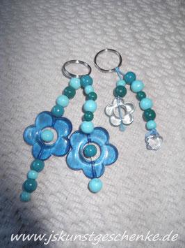 """Schmuckset für Frauchen & Hund """"Blue Flowers"""""""