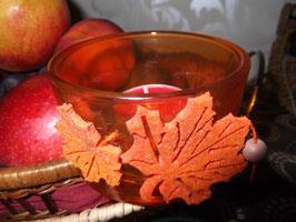 """Teelichtglas incl. Teelicht """"Herbstzauber"""""""