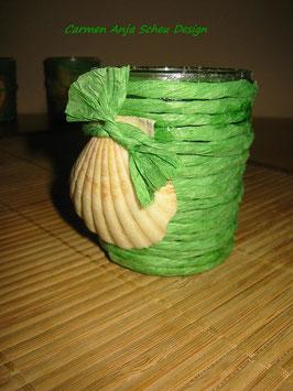 """Teelichtglas """"Muschel"""""""