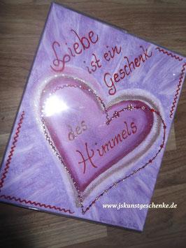"""Leinwandbild """"Liebe ist ein Geschenk..."""""""