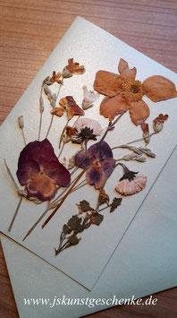 """Karte """"Blütenzauber"""" - Klappkarte mit Umschlag"""
