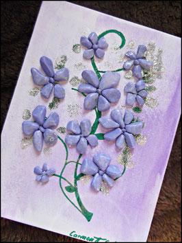 "Leinwandbild "" lila Blumen"""